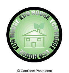 eco house - stamp whit text eco house vector illustration