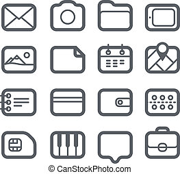 Different Web icons set isolated on white