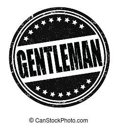 Gentleman stamp - Gentleman grunge rubber stamp on white,...