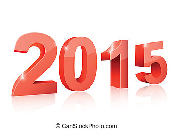 The year 2015 isolated
