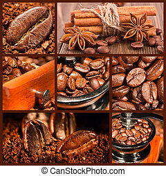 Collage of coffee.