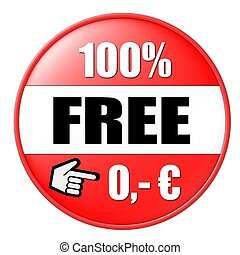 100% free button red euro