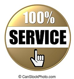 100% service button gold