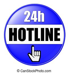 24h hotline button blue