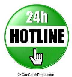 24h hotline button green