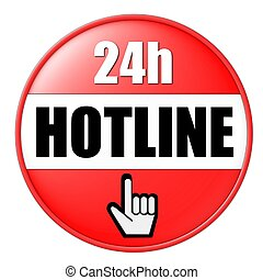 24h hotline button red