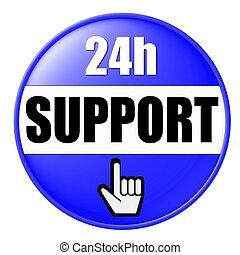 24h support button blue
