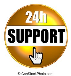 24h support button yellow