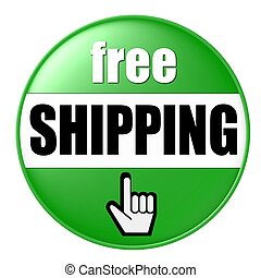 free shipping button green
