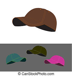 Baseball caps collection - Illustration of baseball caps in...