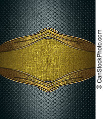 Grunge background with gold cutout for text