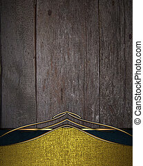 Wooden background with gold edge and gold trim. Design...