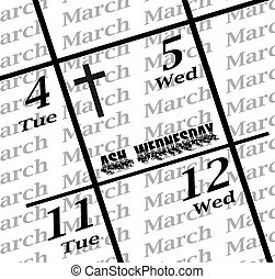 2014 ash wednesday date icon - 2014 ash wednesday calendar...