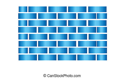 Abstract Blue Squares Background V