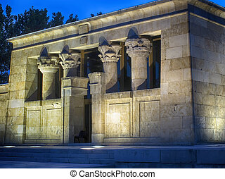 Egyptian Temple of Debod in Madrid, Spain