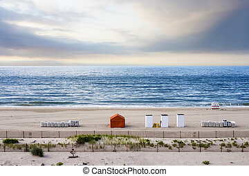 Beach at sunrise, Cape May, NJ - Beach at sunrise, Cape May,...