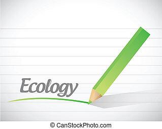 ecology message illustration design