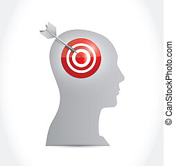 target your mind illustration design over a white background