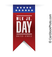 martin luther king jr day sign banner. illustration design...