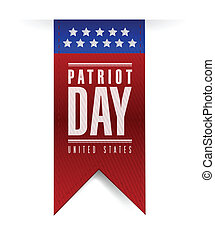 patriot day banner sign illustration design