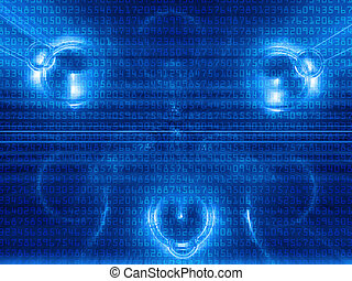 Digital abstraction - High resolution image background....
