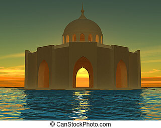 Mosque - High resolution image mosque 3d illustration over...