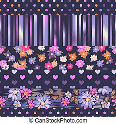 Cute print mix - seamless background