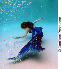 No Flaws when Your Pretending - Mermaid swimming in the...
