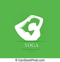 Yoga pose, Full Boat, eps10 vector
