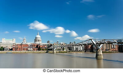 Millennium Bridge Time Lapse - Long exposure time lapse...