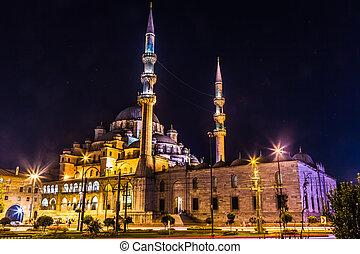 Suleymaniye Mosque, Istanbul, Turkey - Mahya is an...