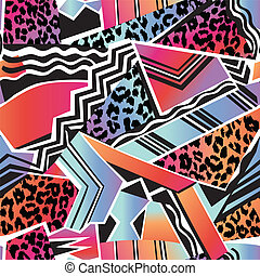 ombre animal geometric print