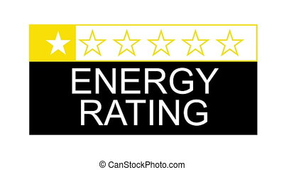 energy rating - The energy rating graphical concept for...