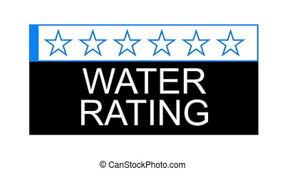 water rating fast - The water rating graphical concept for...