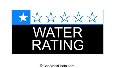 water rating - The water rating graphical concept for...