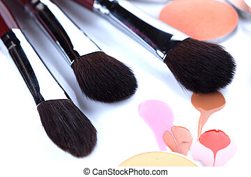 Professional brushes for applying blush