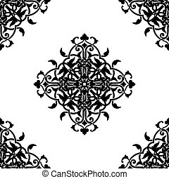 Decorative fractal in arabic or muslim style vector...