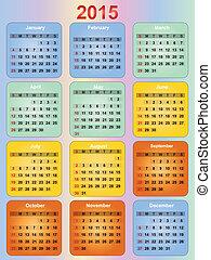 calendar - colorful 2015 year calendar