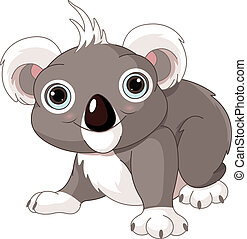 Cute koala - Illustration of cute funny koala