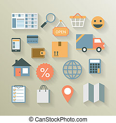 Interface elements for internet ecommerce website of...