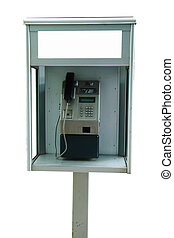 telephone - old telephone on white background isolated image...