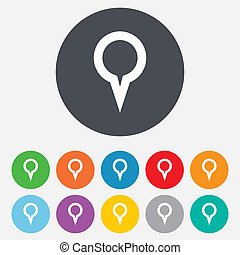 Map pointer sign icon. Marker symbol.