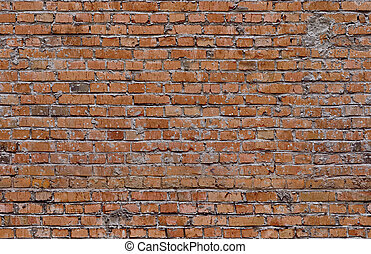 Red seamless bricks. Wall texture