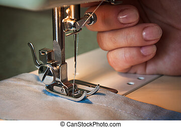 sewing machine - The sewing machine and item of clothing