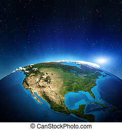 North America from space. Elements of this image furnished...