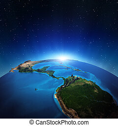 Central America from space. Elements of this image furnished...
