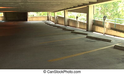 Empty Parking Garage - Vacant parking garage, Salem, Oregon,...