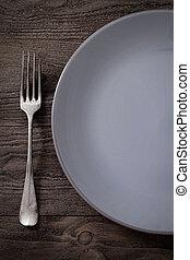 restaurante, menú, ajuste