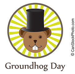 Groundhog Day - Illustration of Groundhog Day two dedicated...