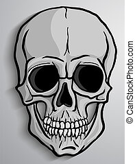 Human Skull vector - Human skull over gray background....